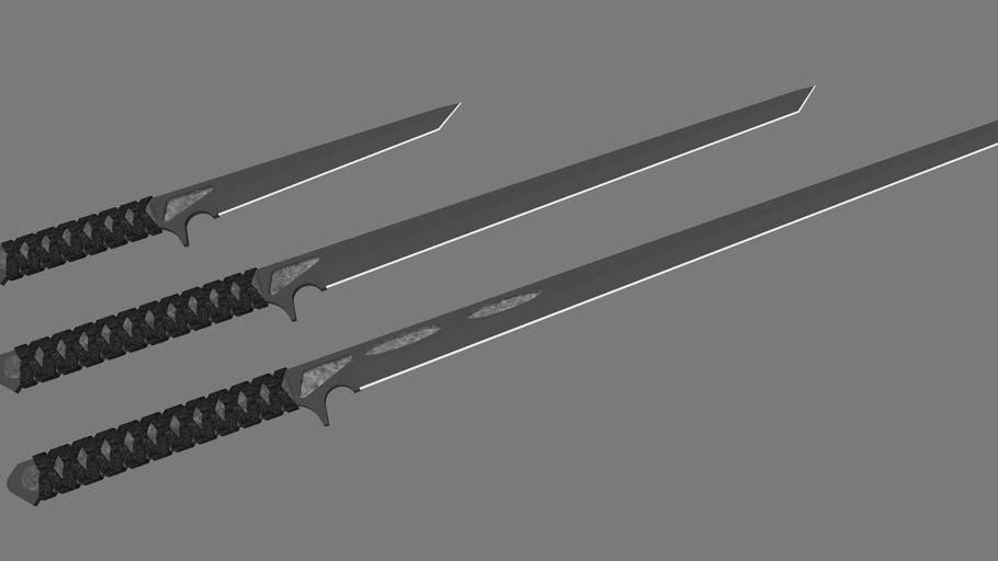Gemstone Ninja sword set