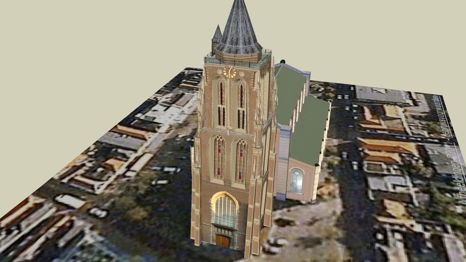 De Grote kerk in Gorinchem, Nederland.