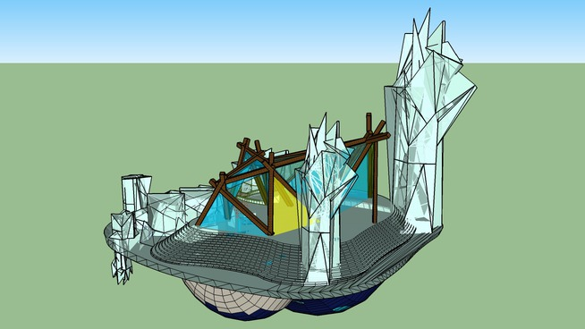 Iceberg Building - Sketchup Modeling