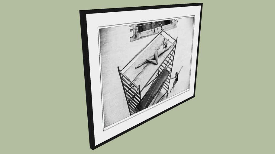 "BRODZIAK ""Ballerina #15"" 128x94 cm - Black&White, Photography, Image, Picture"