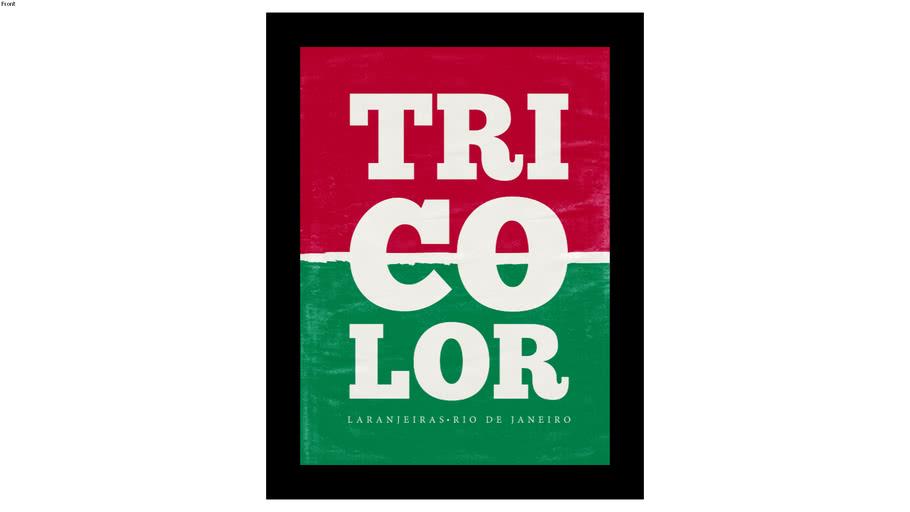 Quadro Fluminense 30x40cm - Quadro futebol - Tricolor