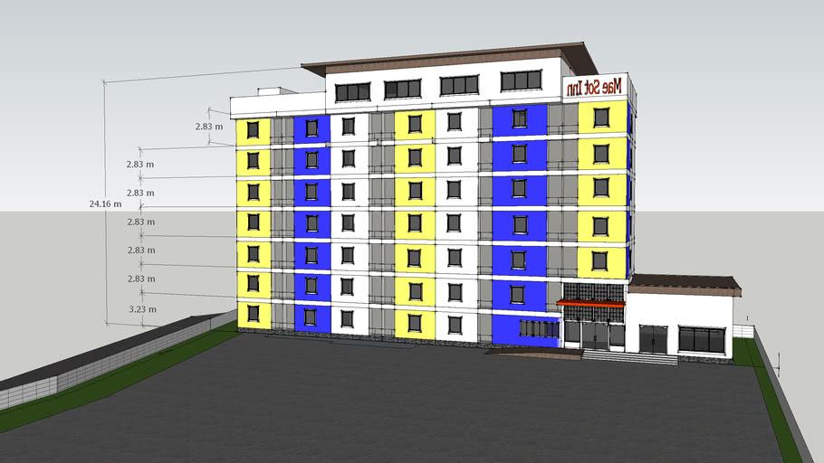โรงแรม 7 ชั้น 68 ห้อง แม่สอด ตาก
