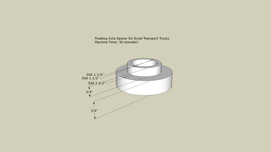 Floating Axle Spacer