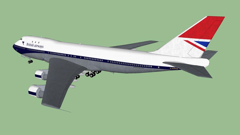 BOAC/British Airways Transition livery .2 G-AWNB Boeing 747-136