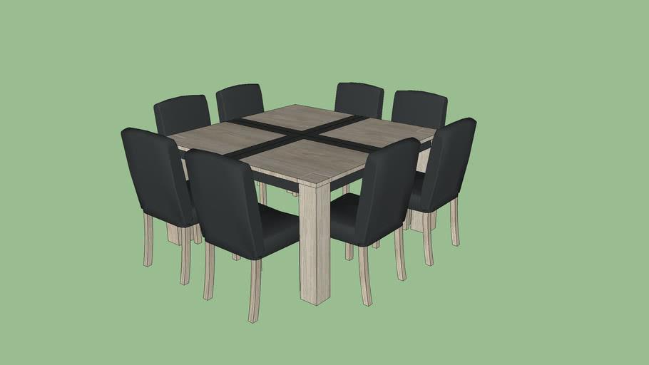 Table Et Chaise Pour Salle A Manger 3d Warehouse