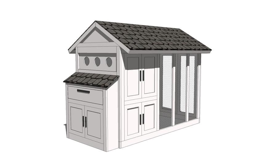 Chicken coop plan model