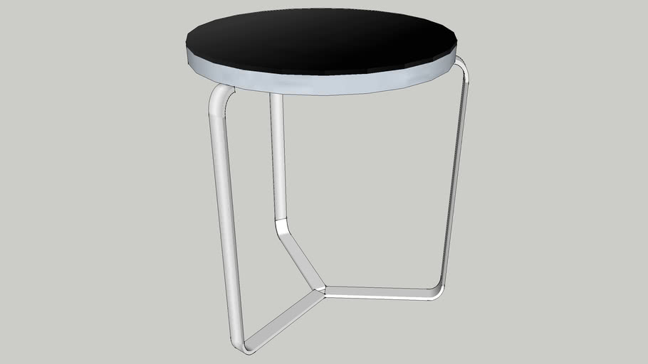 SMALL BLACK GLASS SIDE TABLE