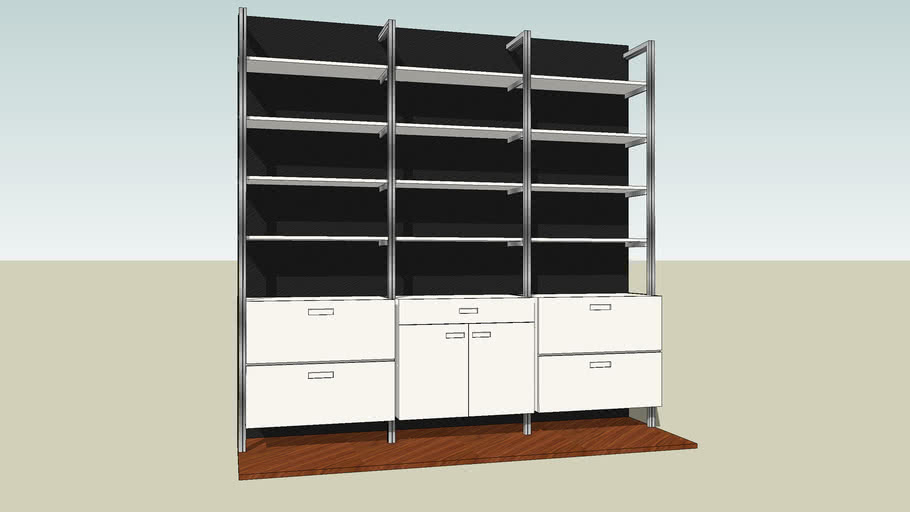 Wall Mounted Shelving and Storage Unit by Smart Furniture