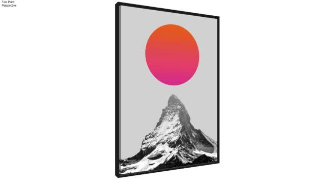 Quadro Montanha e Sol