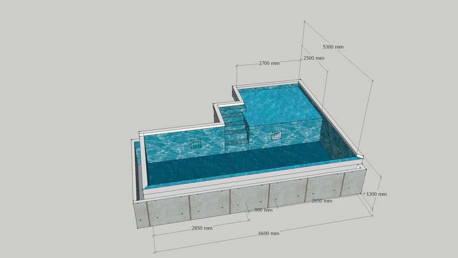 Guest room pool Maldives Resort