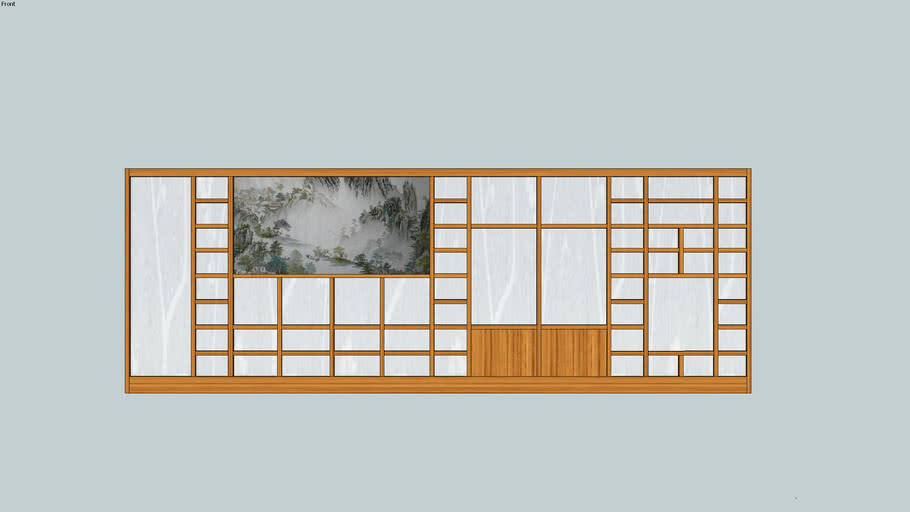 Shoji wall with picture