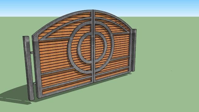 metal and wood gate