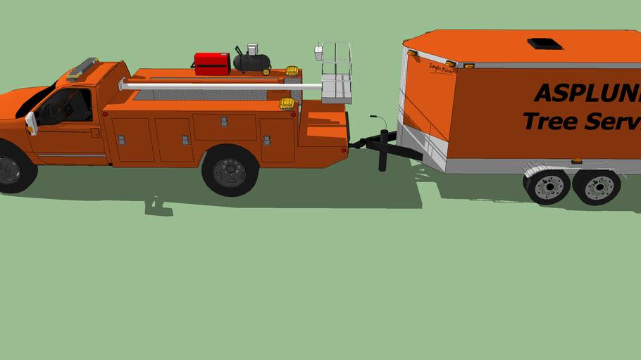 ASPLUNDH minni Cherry Picker with trailer
