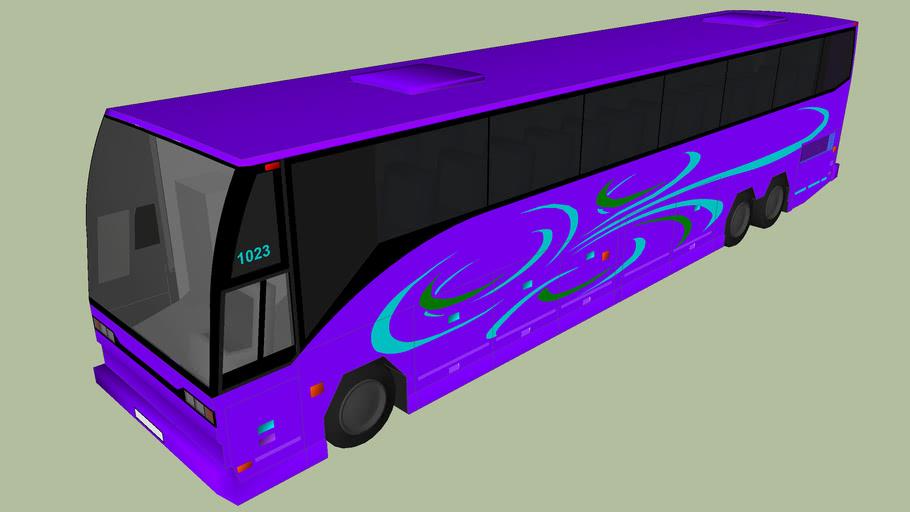 Tour bus concept purple