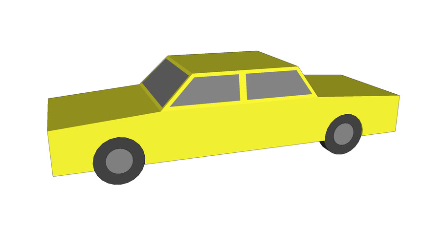Very Simple 3D Car, Yellow