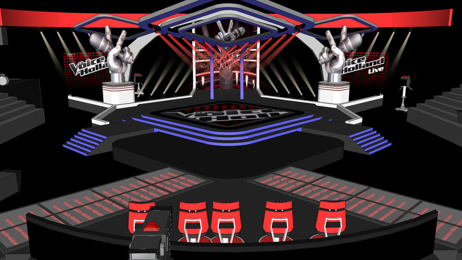 The Voice of holland stage