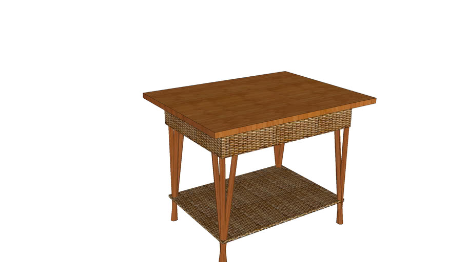 Bamboo and Wicker Table