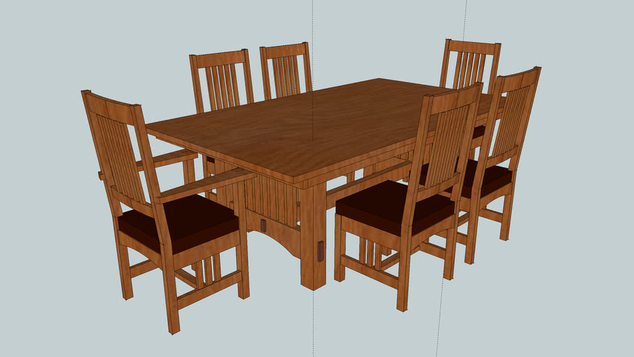 Mission Table and Chairs Final Version Color Willie Sandry Designs
