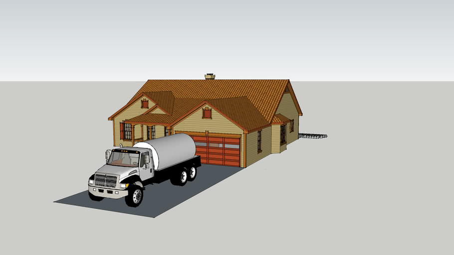 Complete Septic System Tank And Drain Field 3d Warehouse