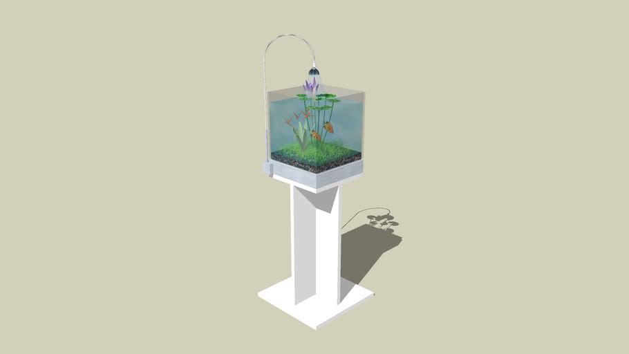 aquacube for aquatic plant and fish