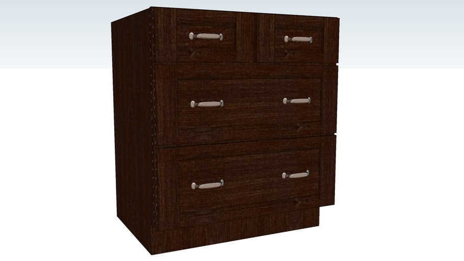 Base Pots and Pans Storage Four Drawer