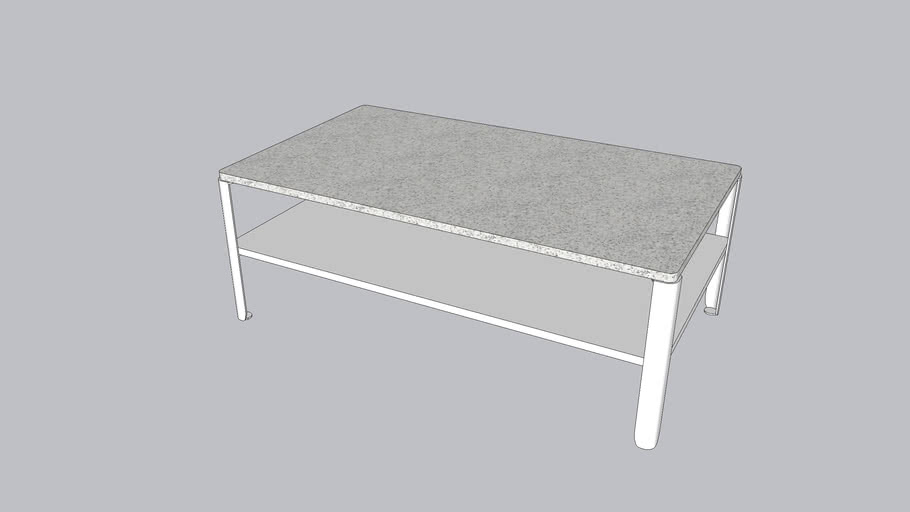 Struktur L_Coffee table_Silver White