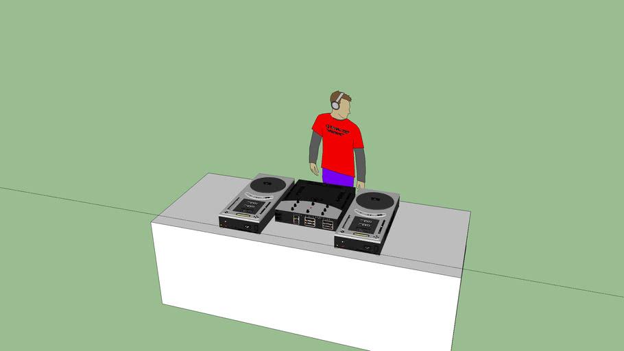 numark cdj (console dj + dj)