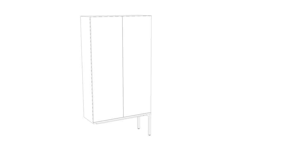 """Denizen Wardrobe-Storage Tower without left legs (35""""W)"""