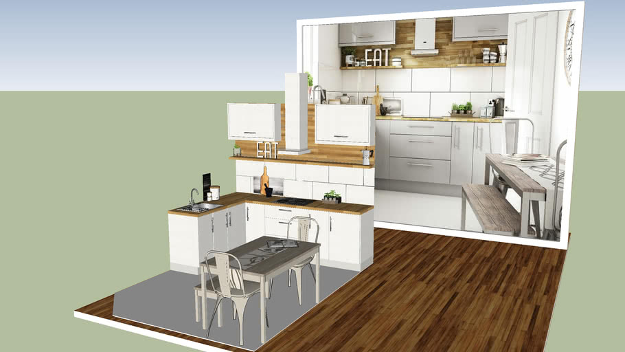 White Modern Kitchen - Cocina Blanca Moderna