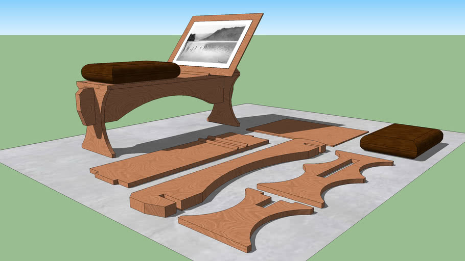 TRADITIONAL ARTIST'S BENCH