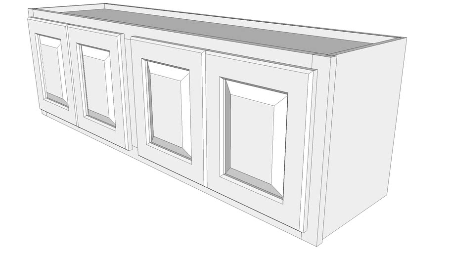 "Briarwood Wall Cabinet W4815F - 12"" Deep, Two Sets Butt Doors"