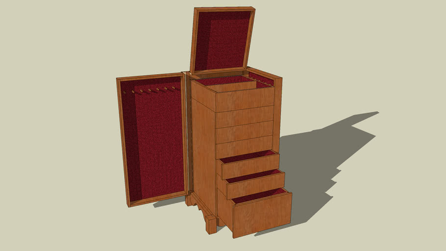 Jewelry & undewear cabinet