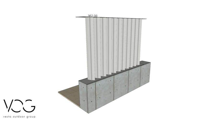 Renson ICARUS vertical sunshade facade system