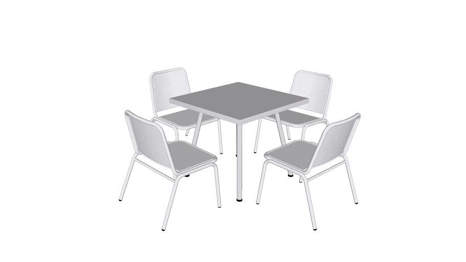 Juego de Mesa Zapopan Cuadrada / Zapopan Square Table Set / MXR-ZAP-S-M01