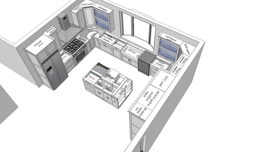 Main house kitchen - Chiu Residence