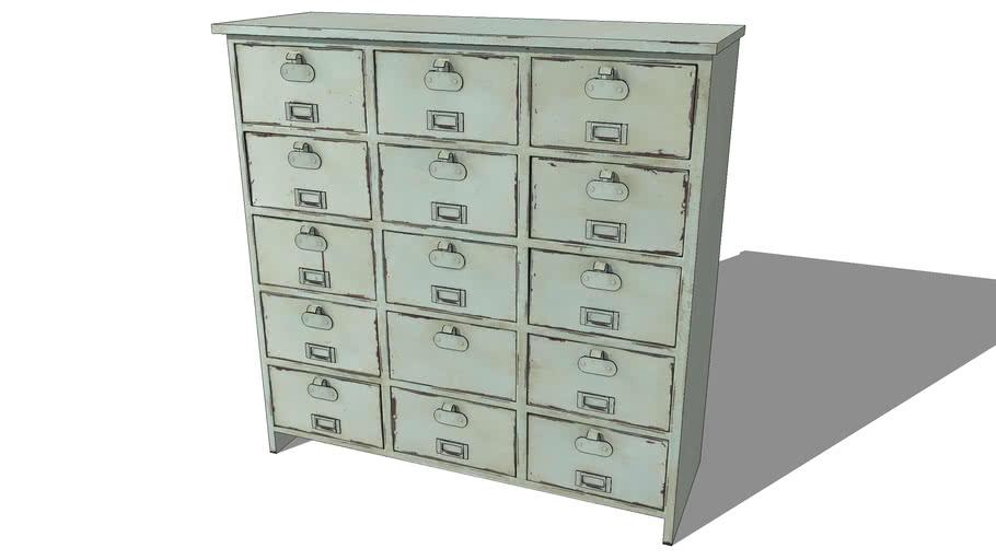 Cabinet EDISON bleu clair, Maisons du monde. Réf: 130.954 Prix:269€