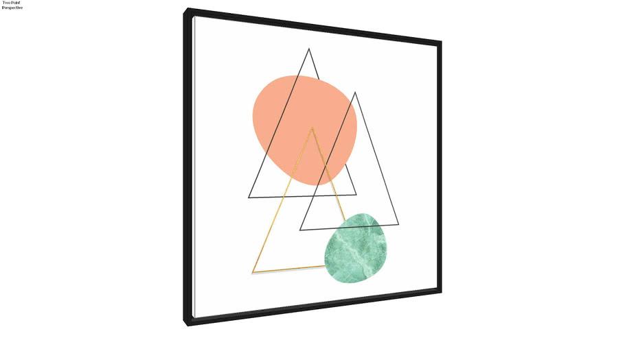 Quadro Minimalista Geométrico _ Ammo Quadros