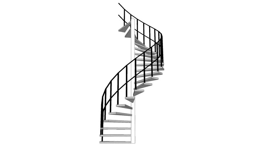 Spiral steel stairs