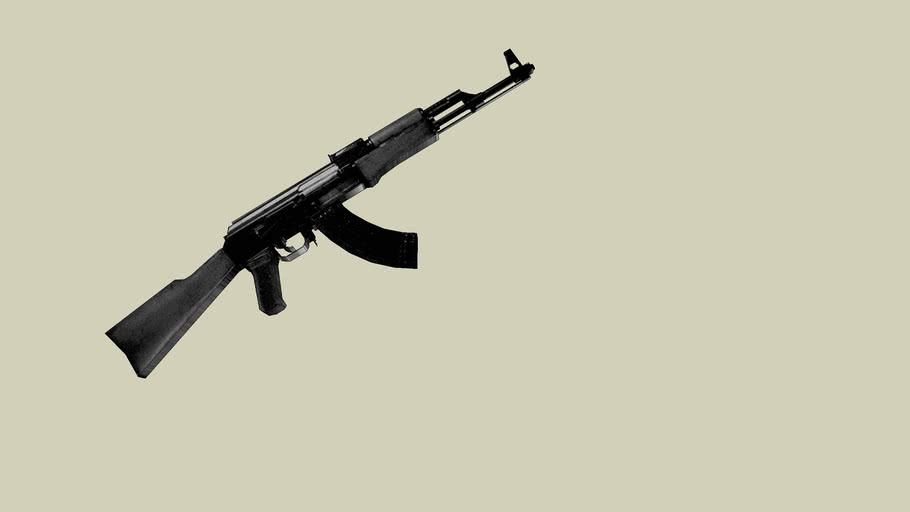 plastic ak 47 (bnw faxed out colors)