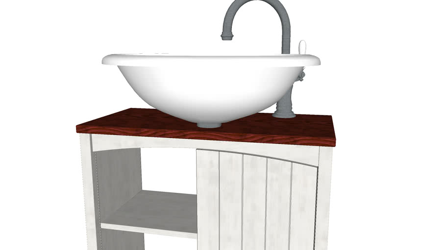 Bathroom furniture Belmassive Paula (Тумба под умывальник Паула)