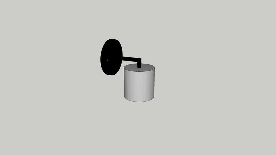 Arandela Cilindro Foco Metallo