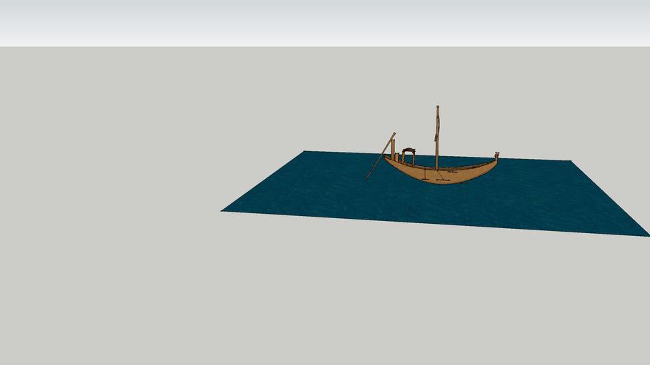Ancient Egyptian Cedar Boat