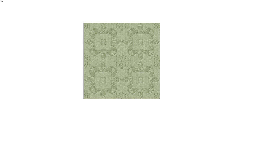 Rug, green patterened