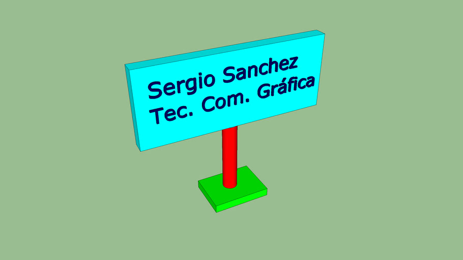 Tarjeta Sergio Sanchez