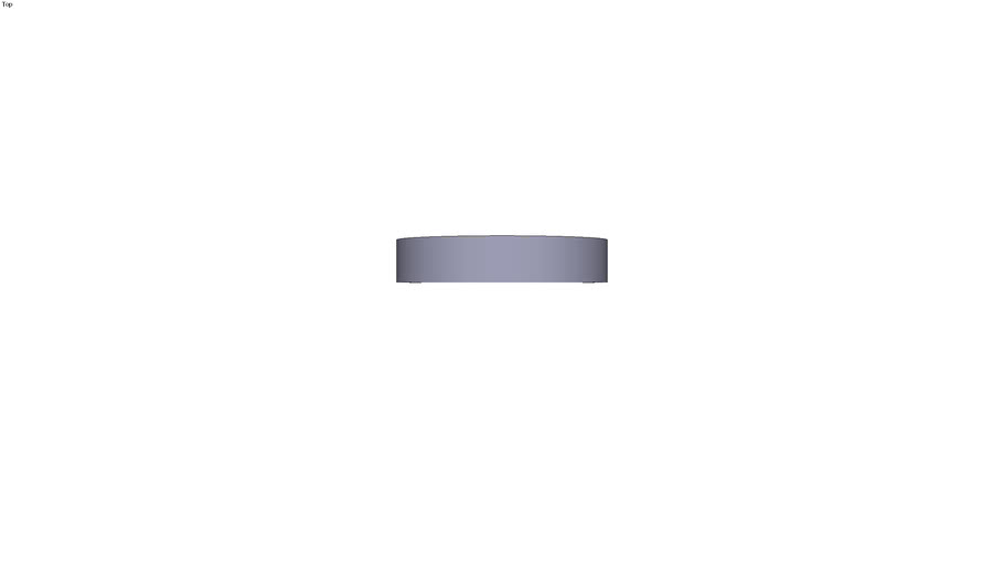 Circular aluminium plate Ø 100 x 20 mm