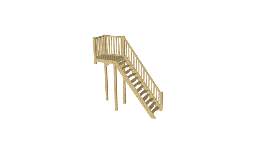 External Timber Staircase
