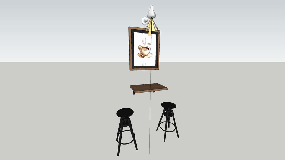 enscape coffee bar stool wall lamp industrialist.