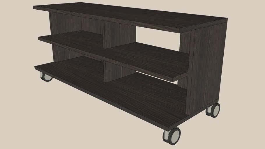 BENNO black-brown TV bench-castors