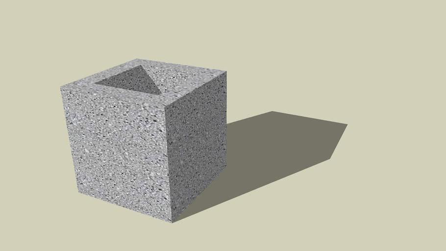 "8"" Concrete Masonry Unit (Half Stretcher)"