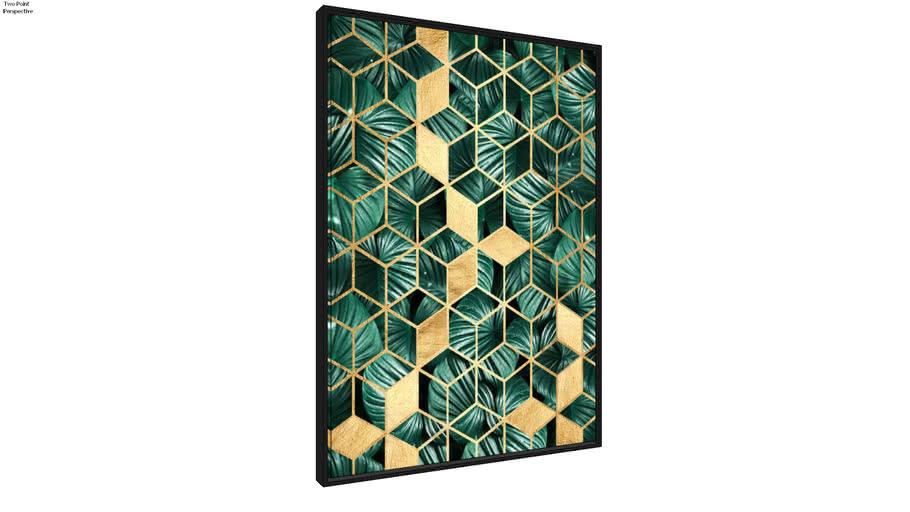 Quadro Mosaico Tropical II